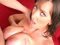 Big Boobed Slut Gets Oiled And Fucked