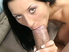 Brunette Hotty Takes Cock In The Pooper